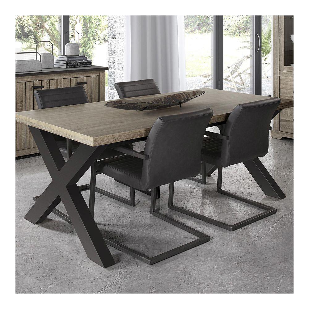 nouvomeuble chaise de salle a manger moderne grise lewis
