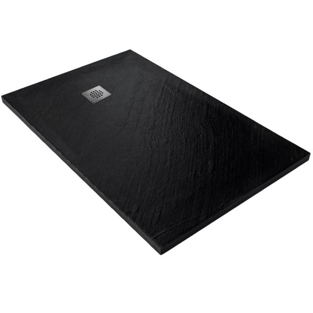 receveur de douche en pierre naturelle 120 x 80 cm graphite natte etanche