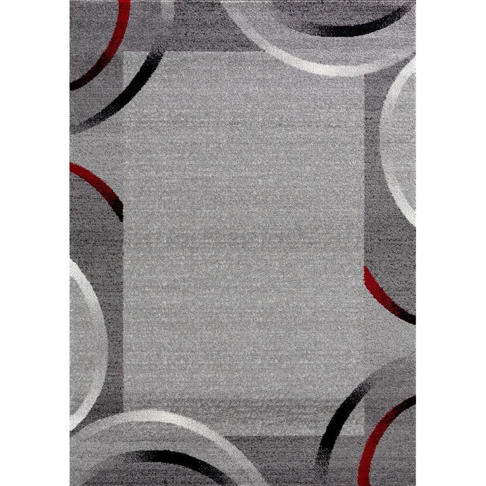tapis gris noirs rouges