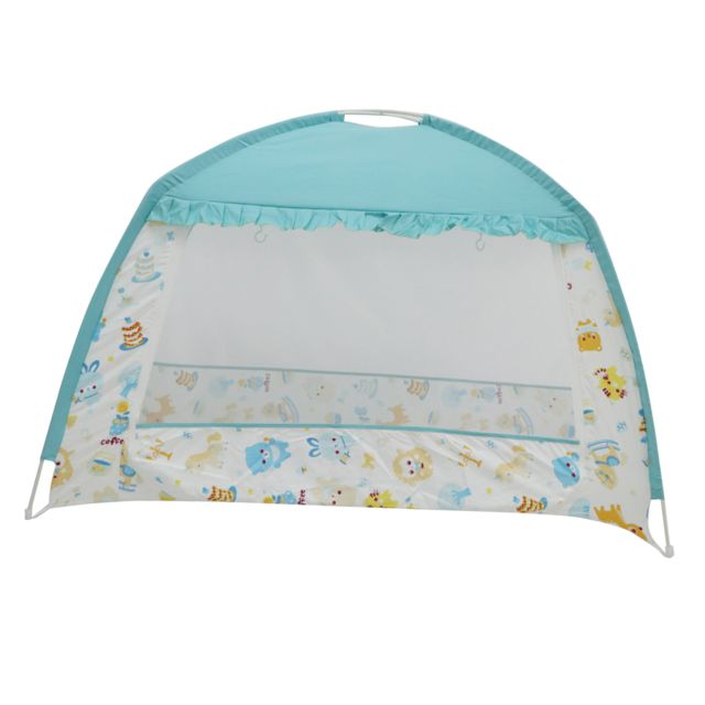 lit de bebe tente pour lit moustiquaire a baldaquin securite parc bleu 65 x