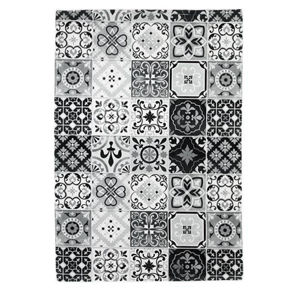 carreaux de ciment tapis motifs carreaux de ciment noir blanc 40x60