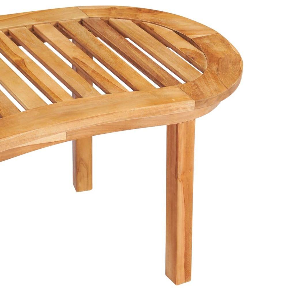 vidaxl bois de teck solide table basse