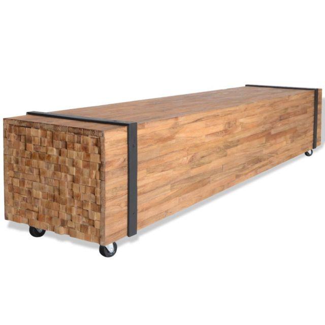 uco meuble tv teck 150 x 30 x 30 cm