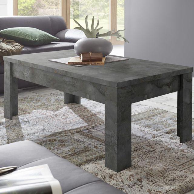 table de salon 120 cm anthracite design artic 5