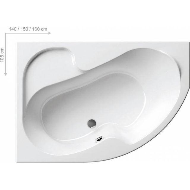 baignoire d angle asymetrique ravak rosa 150 gauche sans tablier