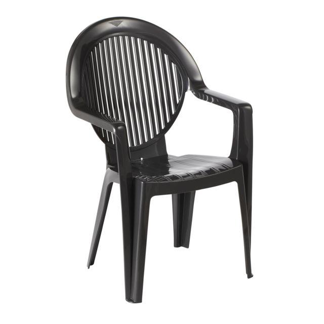 fauteuil monobloc fidji 2 anthracite