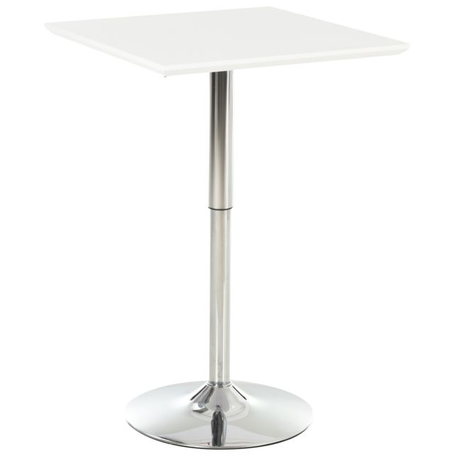 table de bar table bistro chic style contemporain table carree hauteur