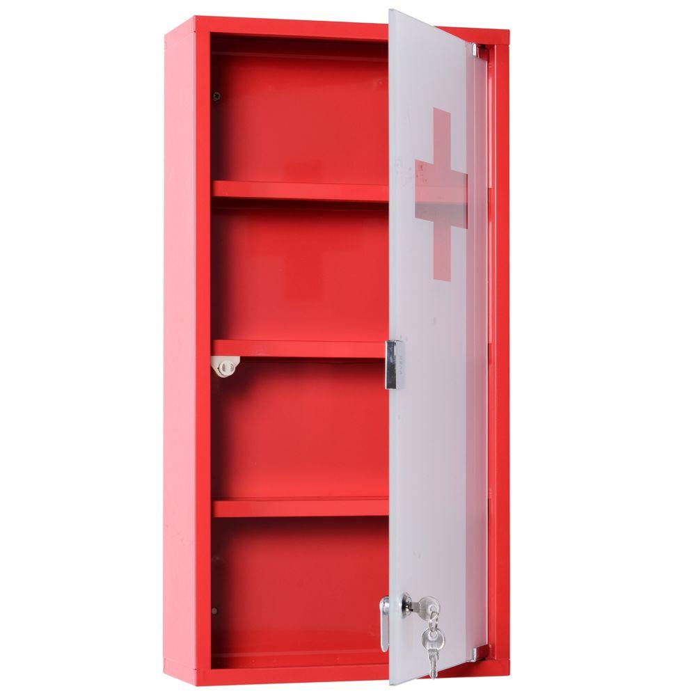 homcom armoire a pharmacie 3 etageres