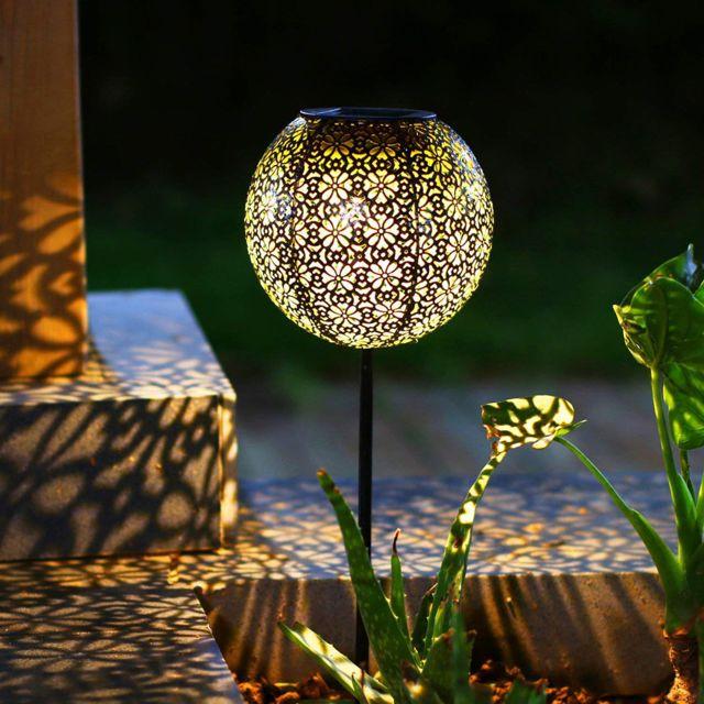 decoration de jardin solaire decoration de pelouse en metal impermeable a