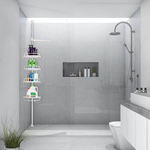 4 etages etagere reglable organiseur de salle de bain etagere d angle de douche