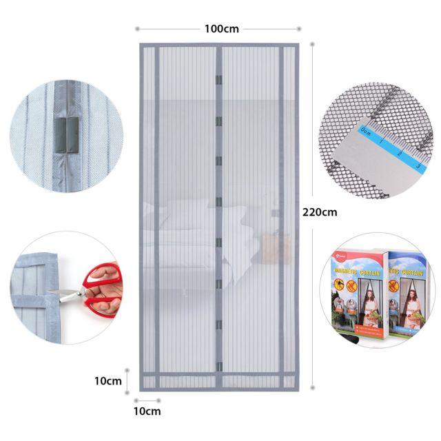 220x100 cm rideau magnetique anti insectes ideal pour porte de balcon porte