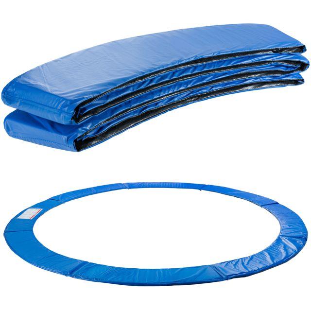 arebos coussin de protection des ressorts pour trampoline 305 cm bleu