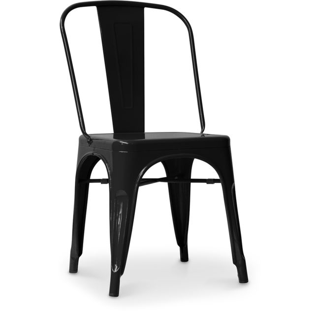 chaise style tolix siege carre metal
