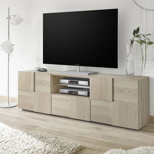 grand meuble tv contemporain couleur chene dominos 3
