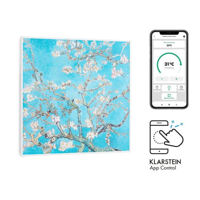 klarstein wonderwall air art smart radiateur infrarouge 60 x 60cm chauffage