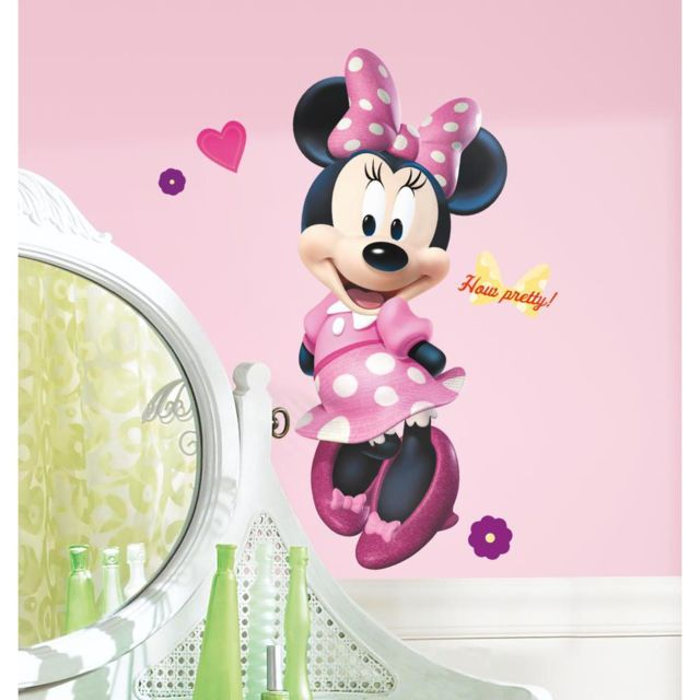 stickers disney minnie geant roommates repositionnables 100x46cm