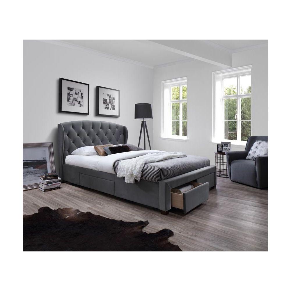 carellia lit adulte 2 personnes 160 x 200 cm avec tiroirs