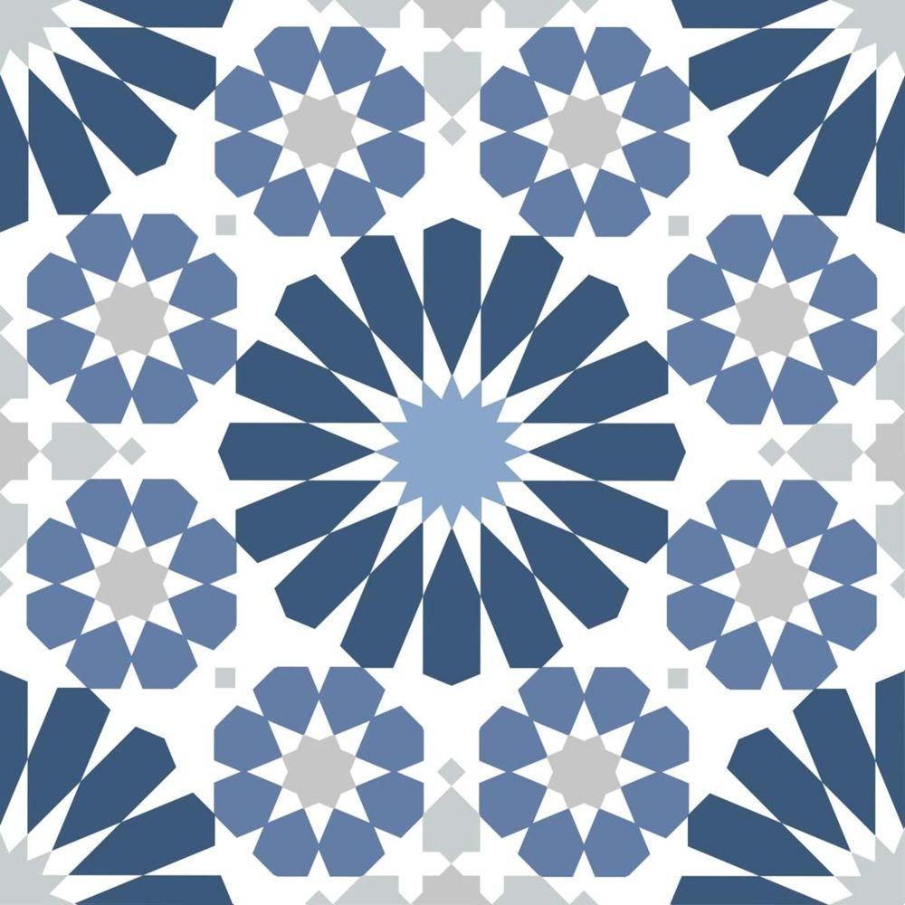 Nouvelles Images Carres Adhesifs Motif Azulejos Bleu Et Blanc Decor Carrelage Mural Rue Du Commerce