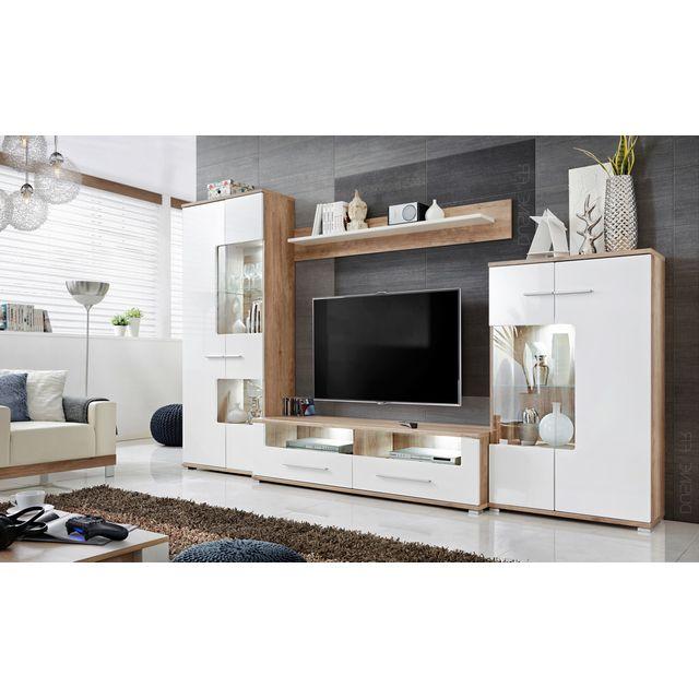 meubles rangements sohalia avec armoire pour salon tv led