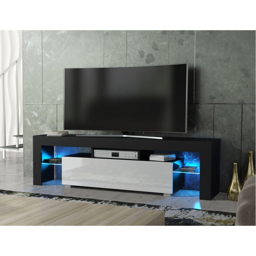 dusine meuble tv spider a led en noir