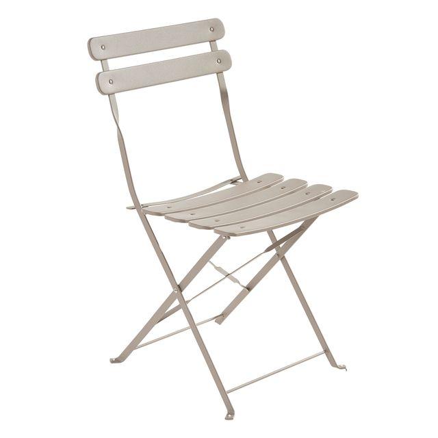 chaise bistrot pliante gris