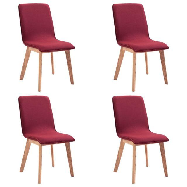 icaverne chaises de cuisine reference 4 pcs chaises de salle a manger rouge