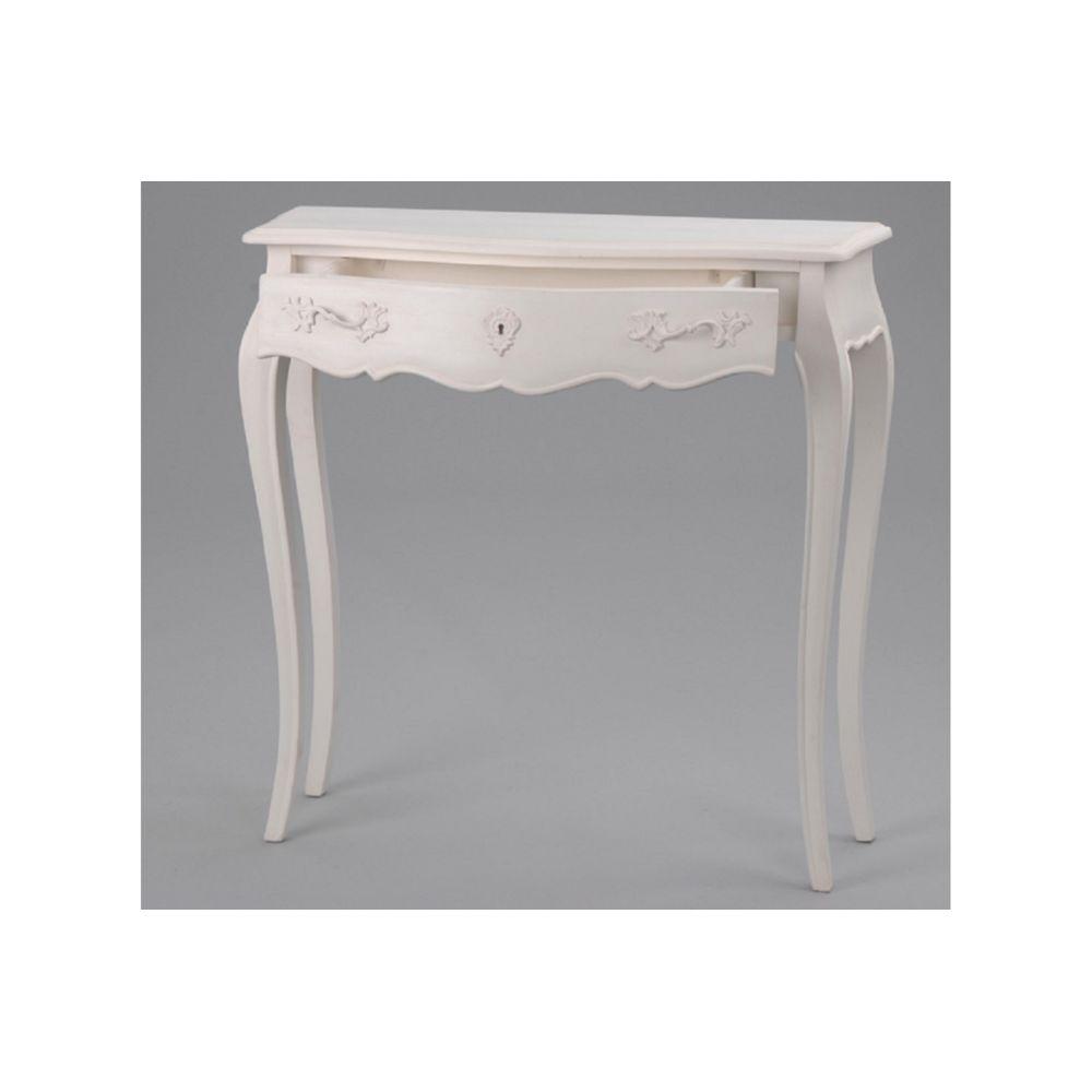 hellin petit meuble console muriane blanc