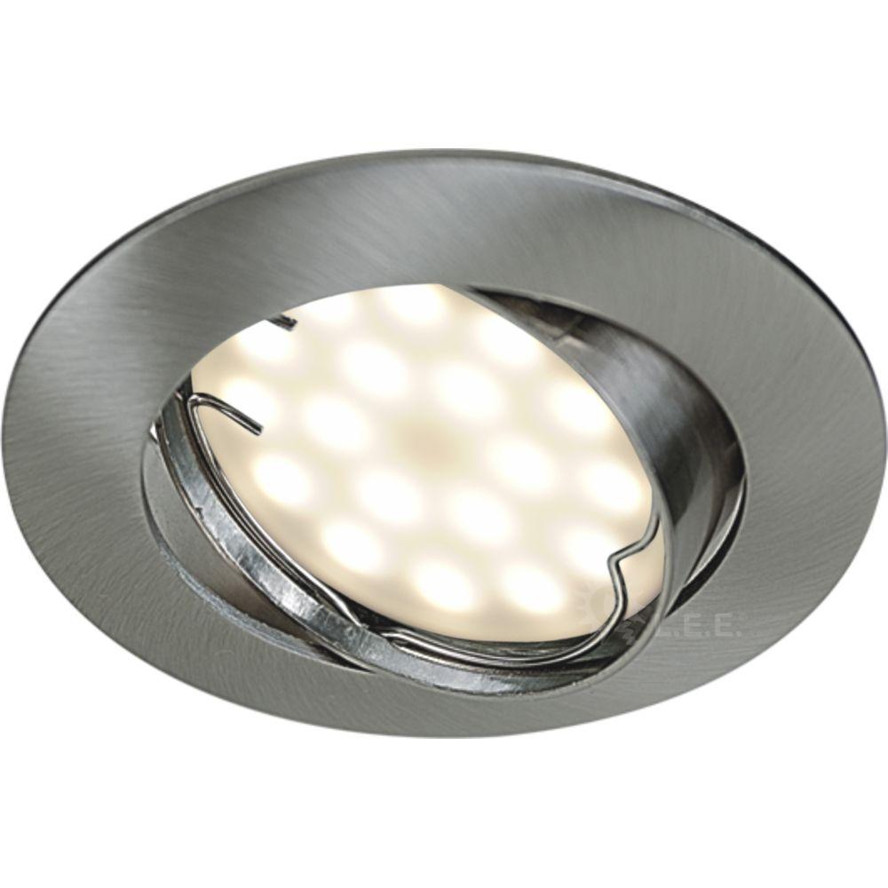lampesecoenergie lot de 6 spot led encastrable complete orientable alu brosse avec ampoule gu10 230v 5w blanc neutre