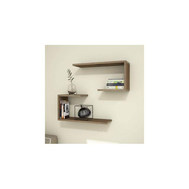 homemania set 2 etagere j2 murales flottantes pour livres pour salon