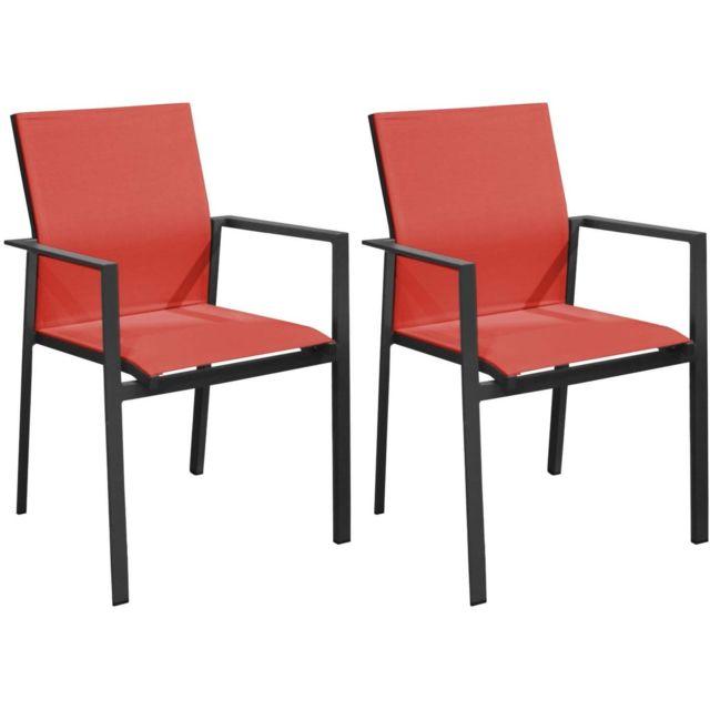 fauteuils de jardin empilables delia lot de 2