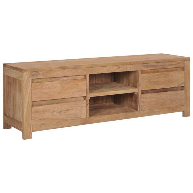 moderne meubles reference ouagadougou meuble tv 120 x 30 x 40 cm bois de teck