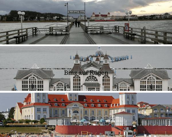 Blick auf Ort, Hotel und Unterkünfte einerseits und Ostsee andererseits