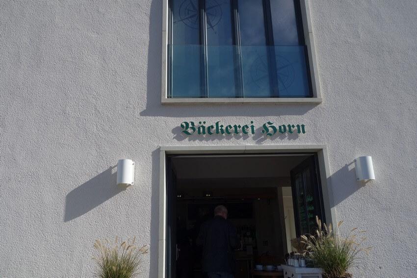 Eingang Bäckerei Horn Prora