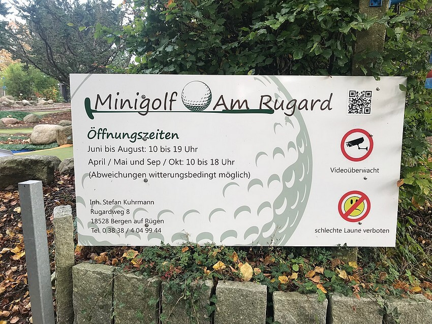 Minigolf am Rugard Infotafel