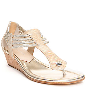 Donald J Pliner 'Dyna' Metallic Viper Embossed Leather Sandal