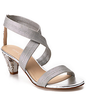 Donald J Pliner 'Vona' Lizard-<wbr/>Embossed & Leather Open-<wbr/>Toe Sandal