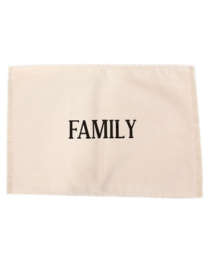 'Family' Set of 4 Placemats