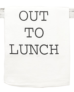 Set of 2 'Out To Lunch' Tea Towels