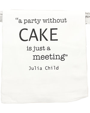 Set of 2 'A Party Without Cake' Tea Towels