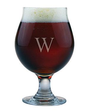 Monogrammed Set of 4 Belgian Beer Glasses
