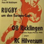 Rugby Club Hilversum - Europacup poster 1962