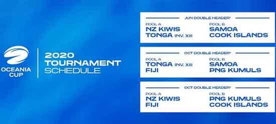 2020 Oceania Cup Fixtures