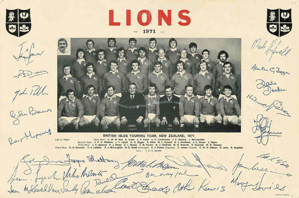 Wales And The British Lions Rugby Connection 1959 Amp 1971