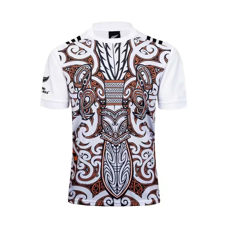 4488b211479 Mens White All Blacks Maori Performance Tee Shirt | rugbystocks