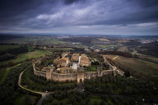 Storm over Monteriggioni