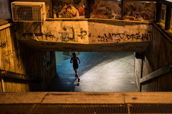 night jogging in Beograd