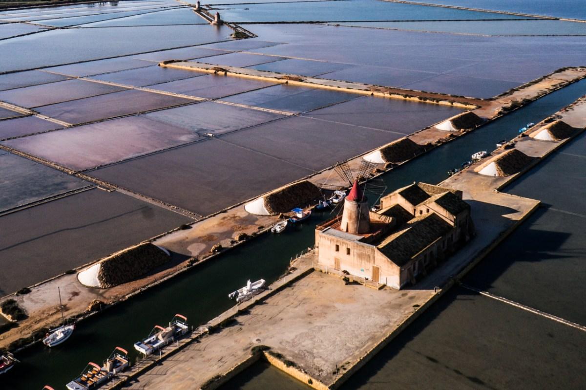 Trapani salt flats