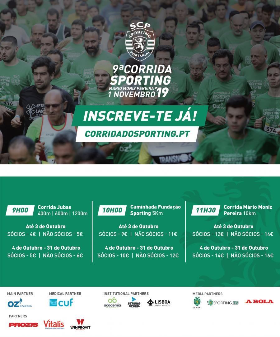 Levantamento das T-shirts para a Corrida Sporting