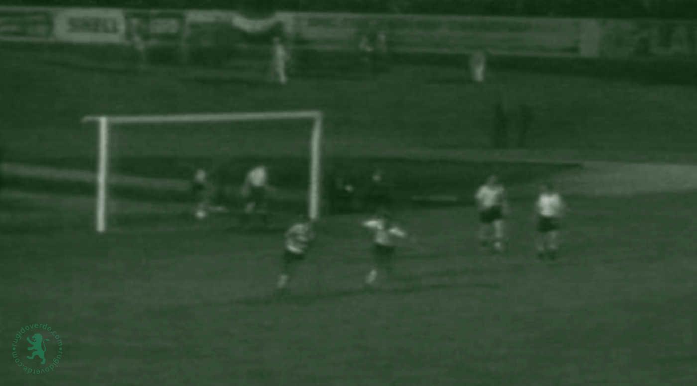 Em 1958, vitória do Sporting por (2-1) sobre os holandeses do DOS Utrecht