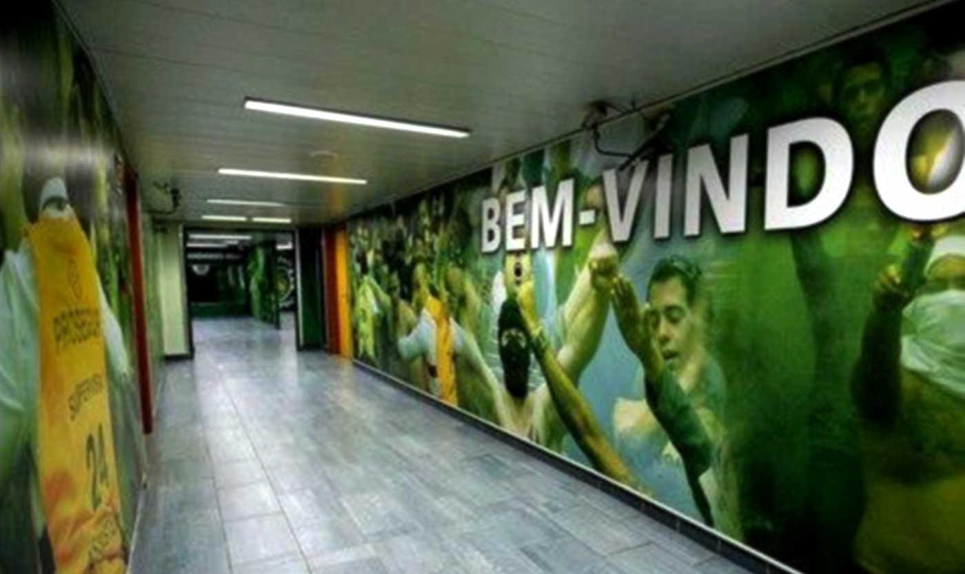 As pinturas polémicas no túnel de Alvalade em Janeiro de 2012